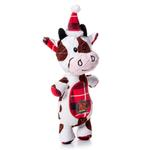 View Image 1 of Charming Christmas Snow Bums Durable Dog Toy - Cow