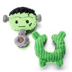 View Image 2 of Charming Halloween Puzzlers Durable Dog Toy - Frankenstein