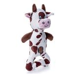 View Image 1 of Charming Pattern Patches Durable Dog Toy - Brown Cow