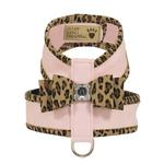 View Image 1 of Cheetah Couture Two-Tone Big Bow Tinkie Dog Harness by Susan Lanci - Puppy Pink