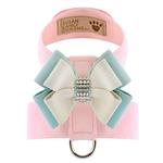 View Image 1 of Hope Bow Tinkie Dog Harness by Susan Lanci - Puppy Pink