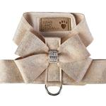 View Image 1 of Champagne Glitzerati Nouveau Bow Tinkie Dog Harness by Susan Lanci