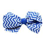 View Image 1 of Chevron Dog Bow - Blue