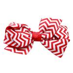 View Image 1 of Chevron Dog Bow - Red