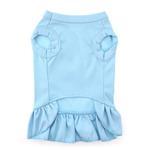 View Image 2 of Chevron Heart Screen Print Dog Dress - Baby Blue