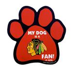 View Image 1 of Chicago Blackhawks Dog Paw Car Magnet