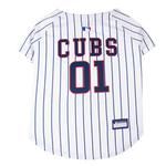 View Image 1 of Chicago Cubs Officially Licensed Dog Jersey - Pinstripe