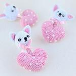 View Image 2 of Chihuahua Heart Crochet Dog Toy