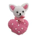 View Image 1 of Chihuahua Heart Crochet Dog Toy