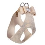 View Image 2 of Champagne Glitzerati Big Bow Step-In Dog Harness by Susan Lanci
