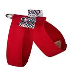 View Image 2 of Classic Glen Houndstooth Big Bow Tinkie Dog Harness by Susan Lanci - Red