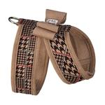View Image 2 of Chocolate Glen Houndstooth Tinkie Dog Harness with Big Bow and Trim by Susan Lanci - Fawn