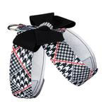 View Image 2 of Classic Glen Houndstooth with Black Nouveau Bow Tinkie Dog Harness by Susan Lanci