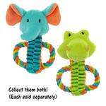 View Image 2 of Chomper Mini Safari Tug Pals Dog Toy - Elephant