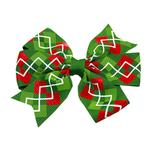 View Image 1 of Christmas Argyle Dog Bow