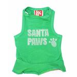 View Image 1 of Rhinestone Santa Paws Christmas Tank Dog Dress - Green