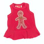 View Image 1 of Gingerbread Man Christmas Dog Dress - Red