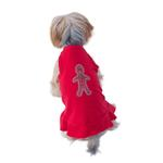 View Image 2 of Gingerbread Man Christmas Dog Dress - Red