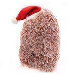 View Image 4 of Christmas Hedgehog Dog Toy with Hat