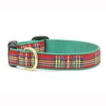 View Image 1 of Christmas Sparkle Plaid Dog Collar by Up Country