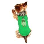 View Image 1 of Rhinestone Snowman Holiday Dog Tank - Green