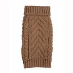 View Image 1 of fabdog® Chunky Turtleneck Dog Sweater - Camel