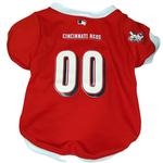 View Image 1 of Cincinnati Reds Dog Jersey - White Trim