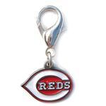 View Image 1 of Cincinnati Reds Logo Dog Collar Charm