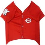 View Image 2 of Cincinnati Reds Officially Licensed Dog Jersey - Red