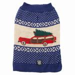 View Image 1 of Clark's Wagon & Tree Sweater - Blue Multi