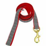 View Image 1 of Classic Black Houndstooth Dog Leash by Up Country