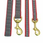 View Image 2 of Classic Black Houndstooth Dog Leash by Up Country