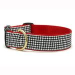 View Image 1 of Classic Black Houndstooth Wide Dog Collar from Up Country