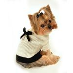 View Image 2 of Classic Coco Mohair Dog Sweater by Hip Doggie - Cream