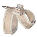 View Image 2 of Champagne Glitzerati Tinkie Dog Harness with Really Big Bow and Doe Trim by Susan Lanci