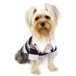 View Image 2 of Classic Stripes Polo Dog Shirt by Klippo