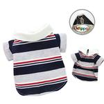 View Image 1 of Classic Stripes Polo Dog Shirt by Klippo