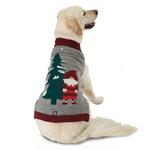 View Image 1 of Claus' Santa Gnome Dog Sweater - Gray Heather