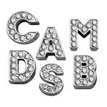 View Image 1 of Clear Bling Lettering Slider Charms from A-Z - 10MM