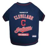 View Image 1 of Cleveland Indians Dog T-Shirt - Navy Blue