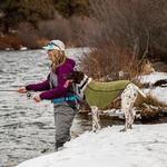 View Image 5 of Climate Changer Fleece Dog Jacket by RuffWear - Cedar Green