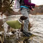 View Image 7 of Climate Changer Fleece Dog Jacket by RuffWear - Cedar Green