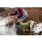 View Image 4 of Climate Changer Fleece Dog Jacket by RuffWear - Cedar Green