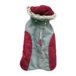 View Image 2 of Cloak & Dawggie Flannel Apre` Ski Dog Parka - Burgundy