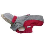 View Image 1 of Cloak & Dawggie Flannel Apre` Ski Dog Parka - Burgundy