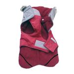 View Image 3 of Cloak & Dawggie Flannel Apre` Ski Dog Parka - Burgundy