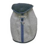 View Image 1 of Cloak & Dawggie Flannel Teacup Dog Coat - Navy