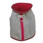 View Image 1 of Cloak & Dawggie Flannel Teacup Dog Coat - Burgundy