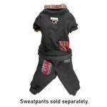 View Image 3 of Cloak & Dawggie Holiday Tartan Trim Dog Sweatshirt