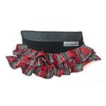 View Image 1 of Cloak & Dawggie Holiday Tartan Ruffle Dog Skirt Accessory